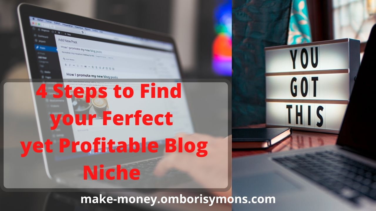 4 Steps to find your perfect yet profitable blog niche